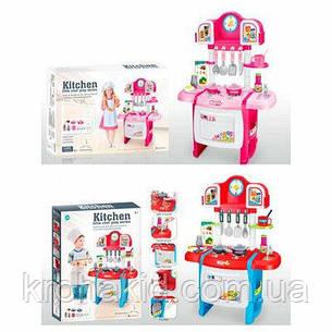 Детская Кухня WD-P19-R19 (2 цвета), с КРАНА ТЕЧЕТ ВОДА, со световыми и звуковыми эффектами, размер 50-31-70 см, фото 2