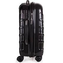 Чемодан пластиковый Средний на 4-х колесах черный с Доставкой по Украине, фото 2