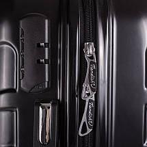 Чемодан пластиковый Средний на 4-х колесах черный с Доставкой по Украине, фото 3