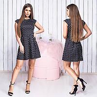 Платье в горошек / хлопок / Украина 15-329, фото 1