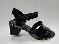 Кожаные босоножки на каблуке. Большие размеры ( 40 - 43 )., фото 1