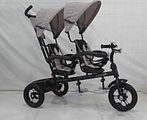 Велосипед-коляска Azimut Crosser Twins Air бежевый колеса надувные + фара