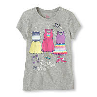 Серая футболка для девочки The Children's Place; 5/6 лет