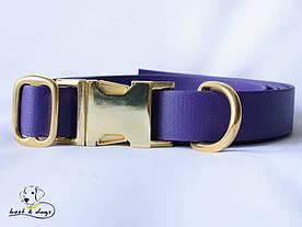 Ошейник из биотана, Фиолетовый, 19мм(латунь)