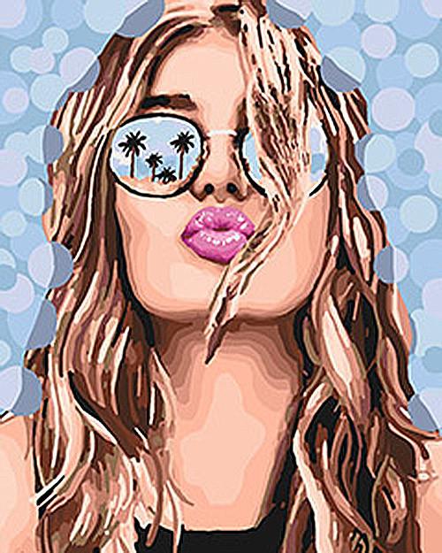 """Картина по номерам. Люди """"Поцелуй лета"""" 40*50см KHO4564 Картина по номерам. Люди """"Поцелуй лета"""" 40*50см KHO4564"""