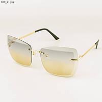 Солнцезащитные квадратные очки с цветными линзами - 609