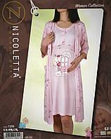 Комплект сорочка и халат для беременных и кормящих