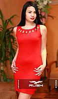 Платье с гипюровой спинкой и камнями