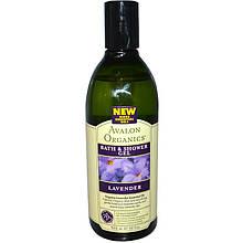 """Гель для ванны и душа Avalon Organics """"Lavander Bath & Shower Gel"""" с эфирным маслом лаванды (355 мл)"""