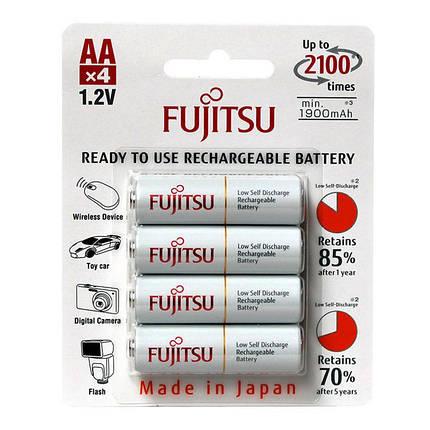 Аккумуляторы АА, 2100 mAh, Fujitsu, 4 шт, 1.2V, Blister (HR-3UTCEX(4B)), фото 2