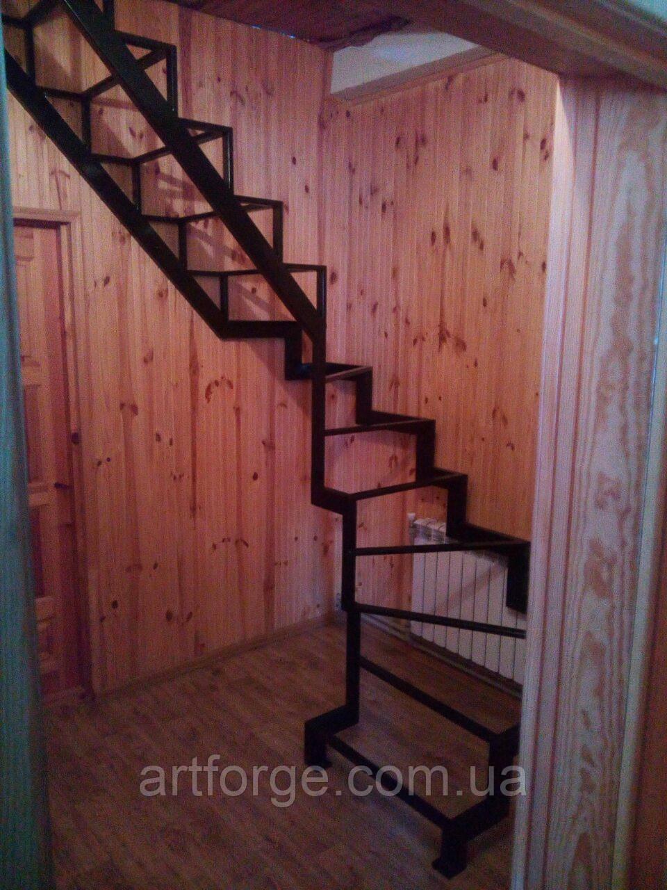 Универсальный каркас лестницы с разворотом 180 гр.