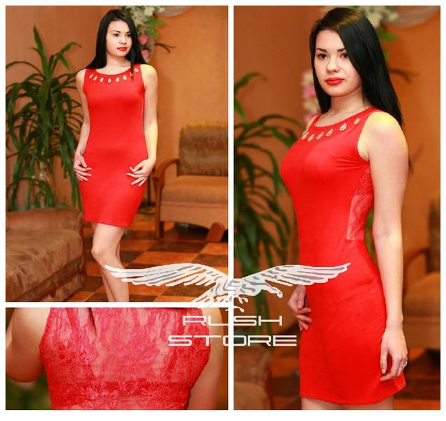 Летнее платье с гипюром