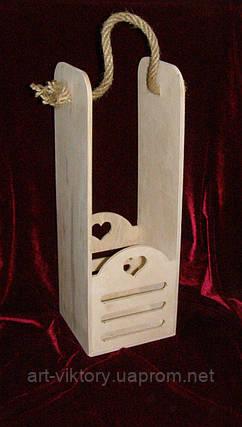 Винний короб (14 х 13 х 39,5 см), фото 2