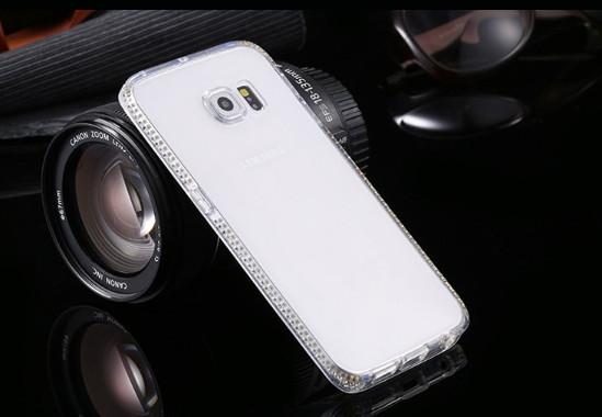 Силиконовый чехол со стразамидля Samsung Galaxy Note 5