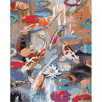 """Картина по номерам. Животные, птицы """"Карпы кои"""" 40х50см. KHO2481 Картина по номерам. Животные, птицы """"Карпы кои"""" 40х50см. KHO2481"""