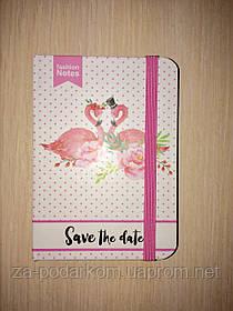 Блокнот Flamingo для записів в лінію з фламінго рожевий А7