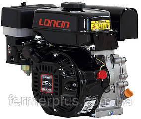 Двигатель бензиновый Loncin G170F   (7 л.с., ручной стартер, шпонка Ø19мм, L=58мм)
