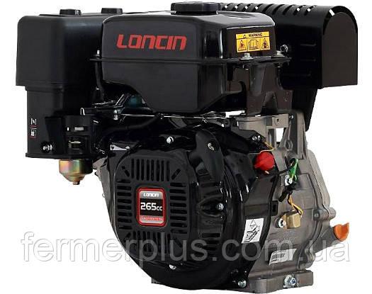 Двигатель бензиновый Loncin LC 175F-2   (8 л.с., ручной стартер, шпонка Ø25мм, L=58мм)