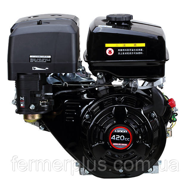 Двигатель бензиновый Loncin G420FD (13 л.с., электростартер, шпонка Ø25мм, L=58мм)