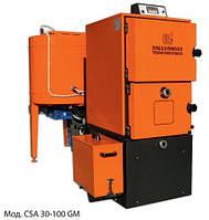 Бытовой водогрейный котел на щепе,стружках, опилках, пеллетах. Модель CSA GM 30 кВт
