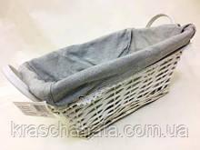 Корзина плетеная с двумя ручками белая, корзины подарочные, Днепр