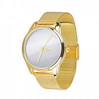 Часы Ziz Минимализм, ремешок из нержавеющей стали золото и дополнительный ремешок - R142925