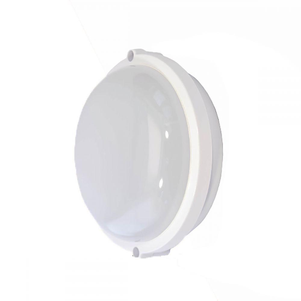 Світильник настінний RIGHT HAUSEN LED коло 8W 6400K IP65 білий мат. HN-223032 Холодно-білий