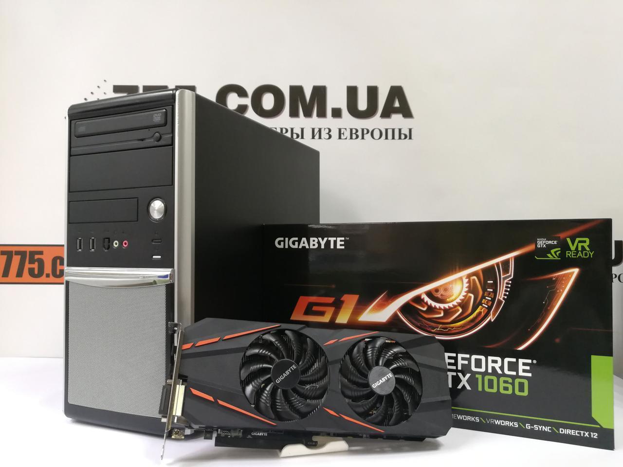 Игровой компьютер, Intel Core i3-4130 3.4GHz, RAM 8ГБ, SSD 120ГБ + HDD 320ГБ, GTX 1060 3ГБ, гарантия 6 мес!