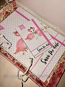 Подарунок подрузі набір блокнотів Flamingo з фламінго
