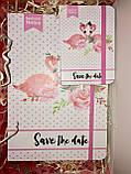 Подарунок подрузі набір блокнотів Flamingo з фламінго, фото 3