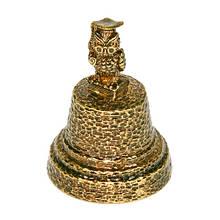Колокольчик Сова из бронзы