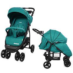 Детская прогулочная коляска Tilly Avanti T-1406 green в льне (Тилли Аванти)
