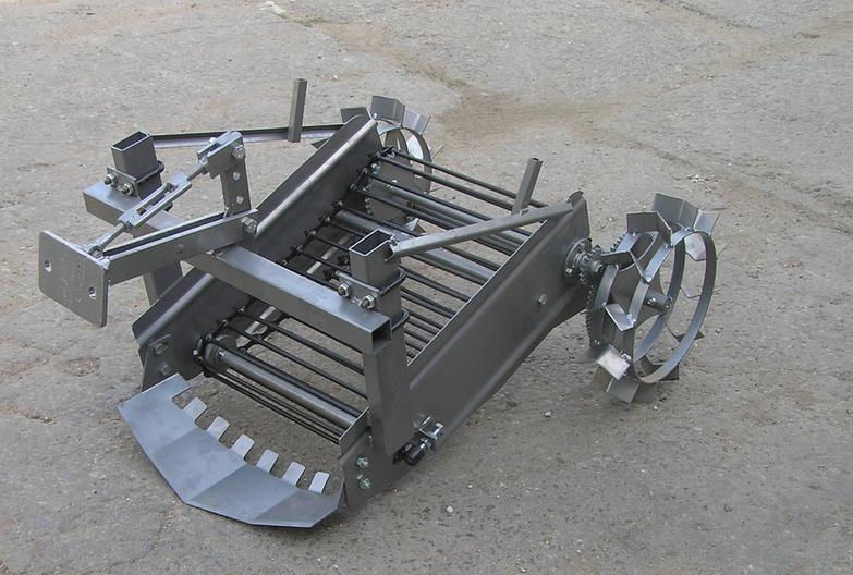 Картофелекопалка транспортерная привод от колес + сцепка