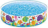 Детский каркасный бассейн Подводный мир Intex 56452, фото 1