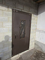 Кованые двери со стеклопакетом