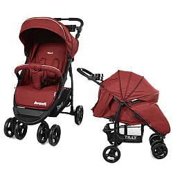 Детская прогулочная коляска Tilly Avanti T-1406 dark red (Тилли Аванти)