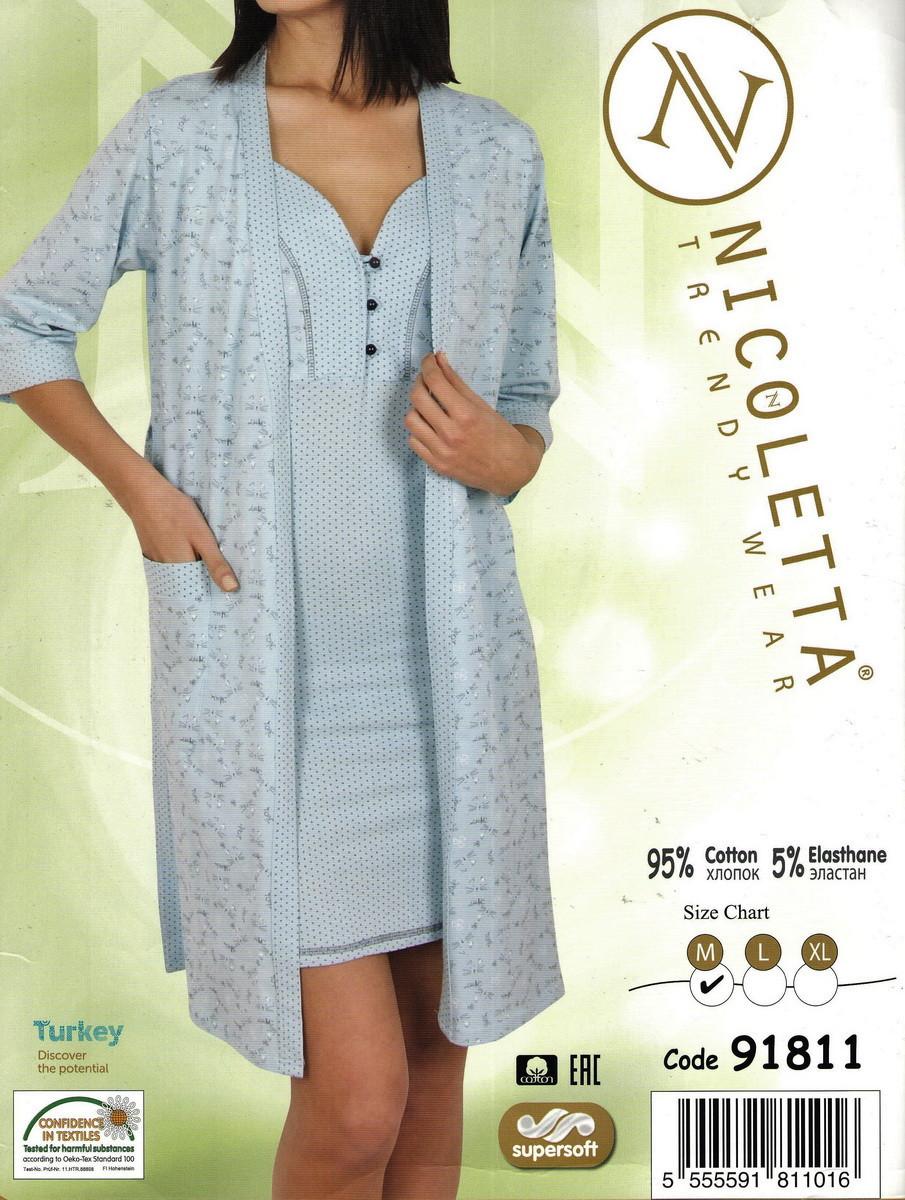 Халат женский и сорочка  Nicoletta