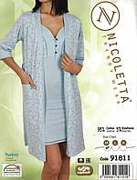 Халат женский и сорочка  Nicoletta, фото 1