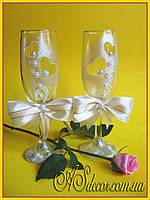 Бокалы свадебные - айвори (цветовая гамма на выбор)