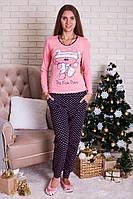 Пижама женская с длинным рукавом Nicoletta 96088