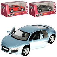 Машинка KT5315W (Audi R8) Машинка KT5315W (Audi R8) металл,инер-я,12,5см,1:36,откр.двери,рез.колеса,в кор-ке,16-7,5-8см