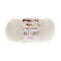 Alize Baby Wool молочный №62, фото 1