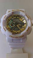 Часы женские Casio G-Shock (белые/золото)