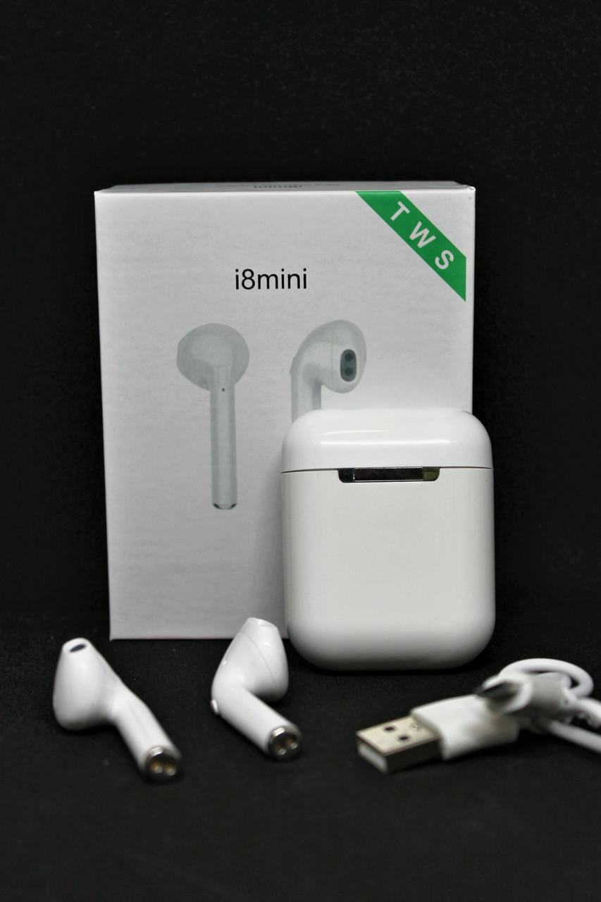 Беспроводные Bluetooth наушники i8 mini TWS гарнитура , фото 1