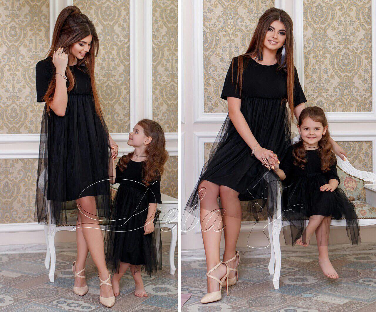 Платье мама+дочь