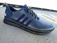 Мужские кожаные кроссовки Adidas большие размеры 46-50 р-р, фото 1