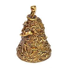 Колокольчик бронзовый Еж с грибом на шляпе