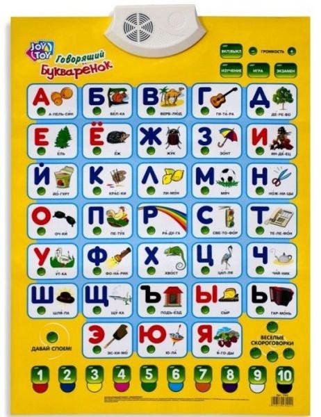 Плакат обучающий 7002 Говорящий Букваренок
