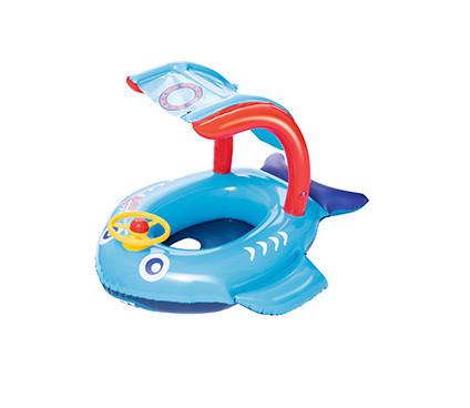 BW Плотик 34108(Blue) Синий Рыбка, 81-66см, руль, с навесом, в кор-ке, Синий