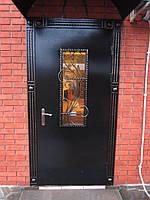 Кованые двери со стеклом